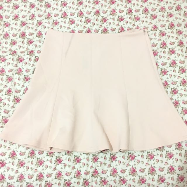 The Executive Peach Skirt