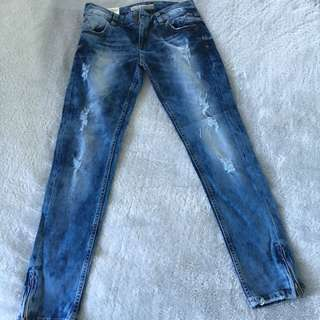 Brand New Jeans Stone Washed With Tags