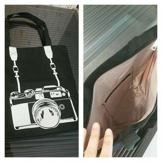 Brand NEW Camera Pic Canvas Tote Bag