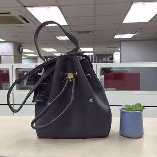 Niko Niko Mini Bucket Bag (Charcoal)