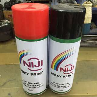 1 Pc Niji Spray Paint (Green, Red, Silver, Blue, Black, White)