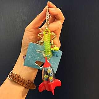 三眼怪 鑰匙圈 吊飾 玩具總動員 Toys Little Green Man