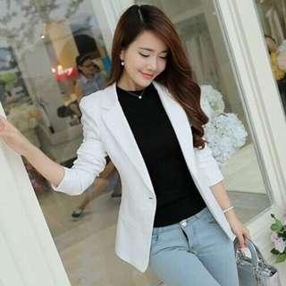正韓 白色西裝外套