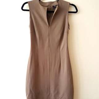 Miss Sixty XS Dress Olive /Tan Color