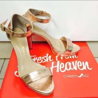 Petra Rose Gold Platform Heels