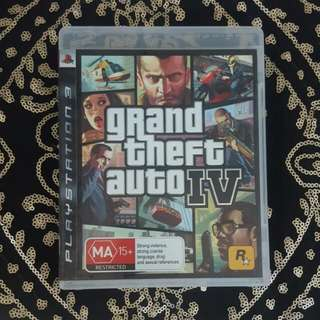 Ps3 Grand Theft Auto IV Game