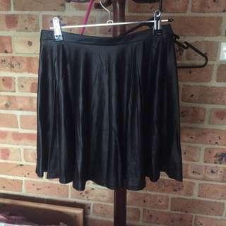 Black Wet Look Skirt