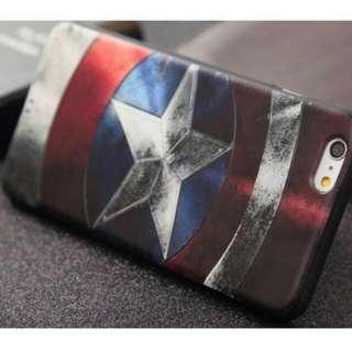 Apple IPhone 6plus Marvel 漫威美國隊長復古噴墨工業風手機軟殼保護套