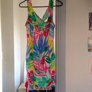 Colourful Floral Fitted Dress