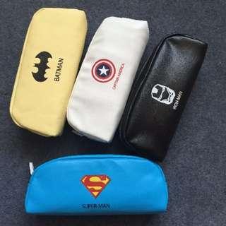 pu軟皮英雄聯盟美國隊長復仇者聯盟超人鋼鐵人蝙蝠俠筆袋