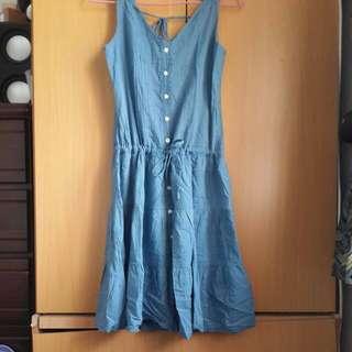 古着 藍色洋裝