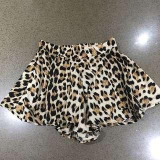 Cheetah Print Skort