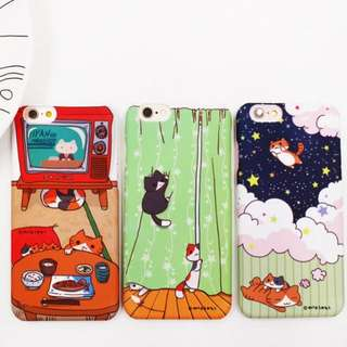 iPhone 6 s plus 可愛 卡通 小貓 磨砂殼 起司 貓 手機殼 保護殼
