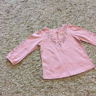 Pumpkin Patch Embroidered Top