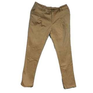 Queenshop百搭褐色老爺褲