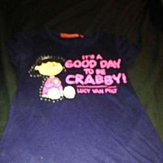 Size 8- Official 'peanuts' Merchandise