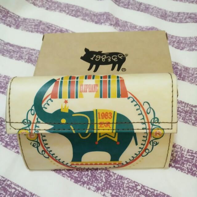 大象圖案零錢包