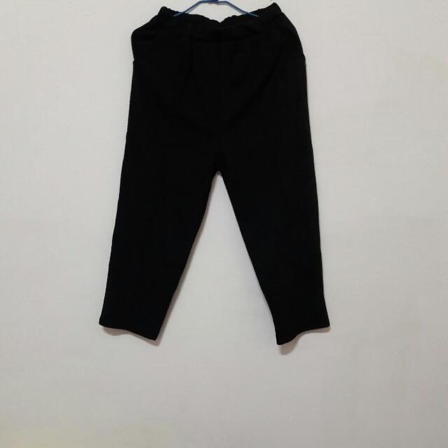 黑色長寬褲(含運)