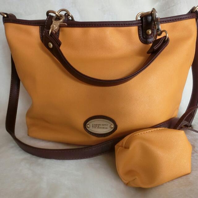 黃色手提包+小零錢袋+手拿包