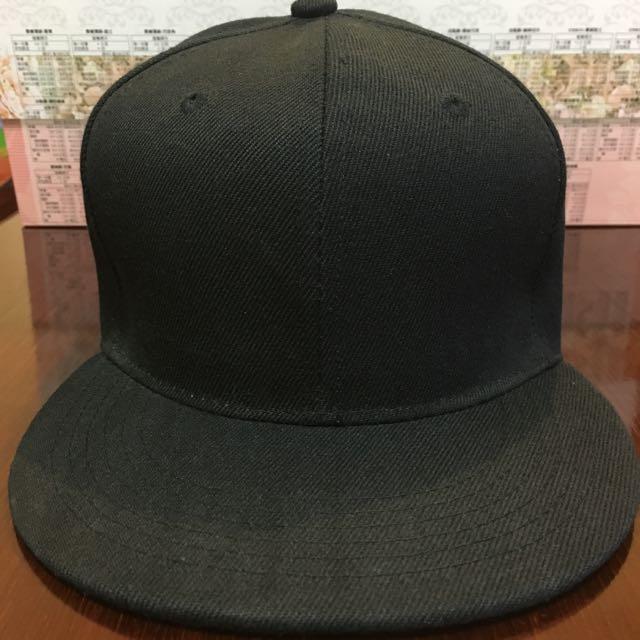 棒球帽 鴨舌帽 素面 全黑