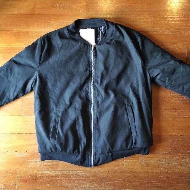 Black Bomber Jacket (Reserved)