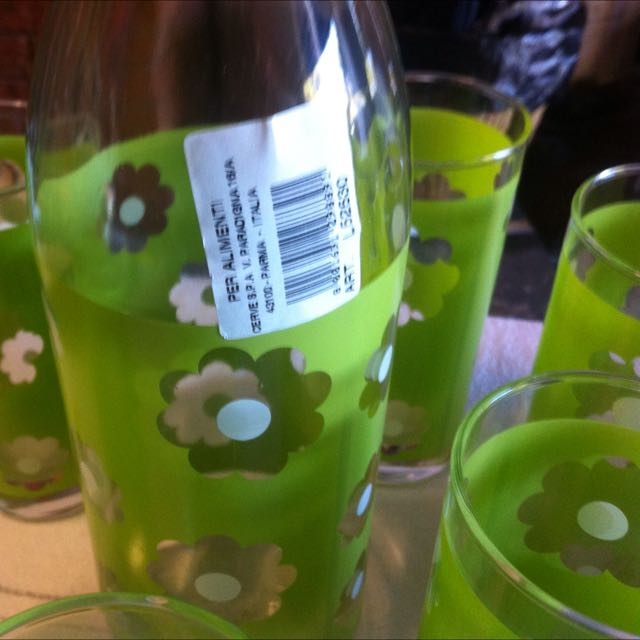 Bottle And Six Matching Glasses