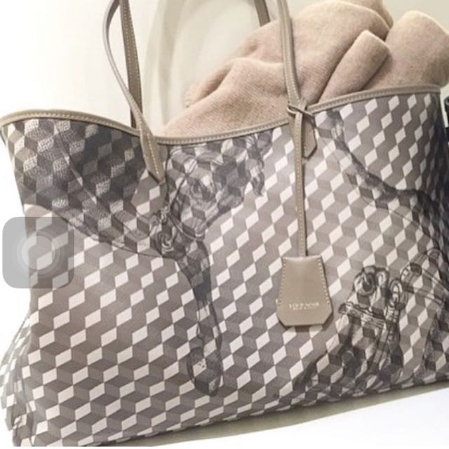 REPRICE  LOUPNOIR Shopper Small bag In Grey