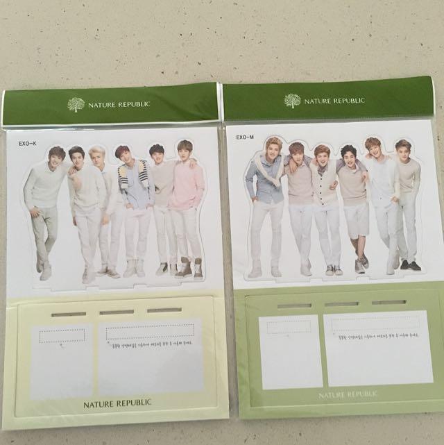 EXO K & EXO M Mini Group Standies *Nature Republic*