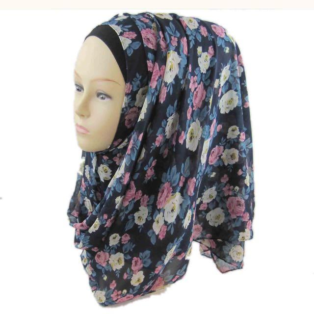 Floral Chiffon Scarves / Hijab.