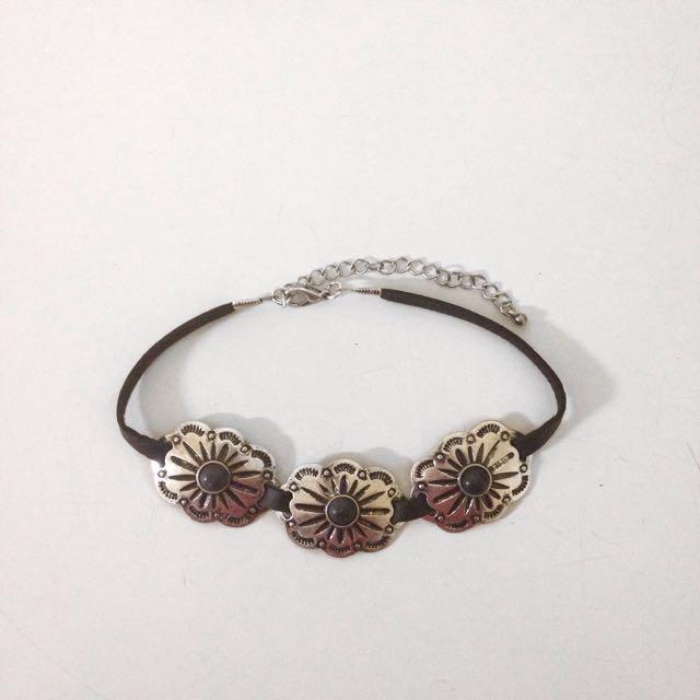 Flower Concho Choker