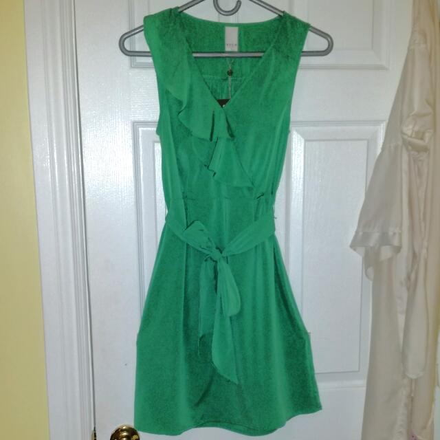 Light Green Wrap Dress