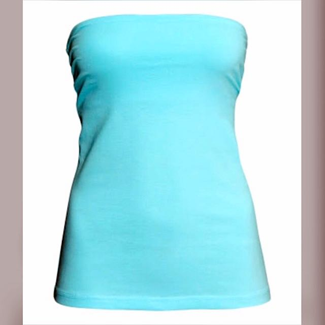 NEW H&M Blue Tube Top