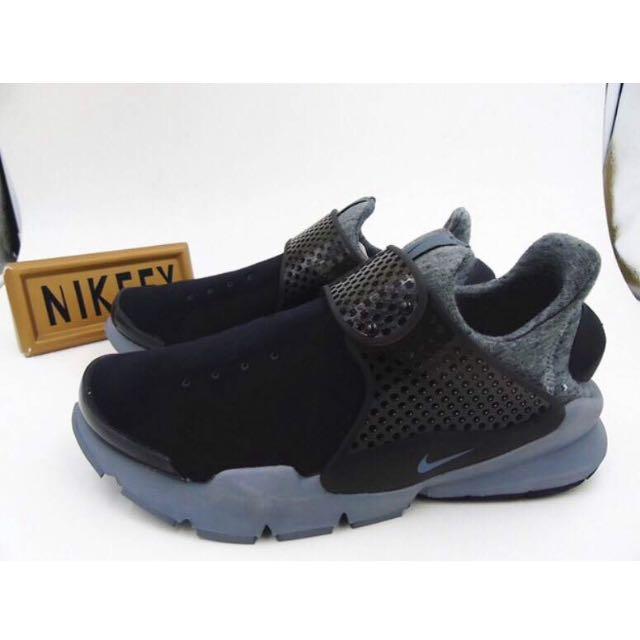 Nike Sock Dart TECH FLEECE 慢跑鞋 潮鞋 魔鬼釦 黑灰色 男女鞋款