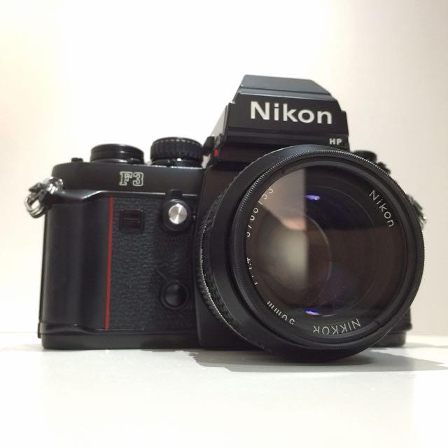 Nikon F3 HP + Nikkor 50mm f/1.4 Lens