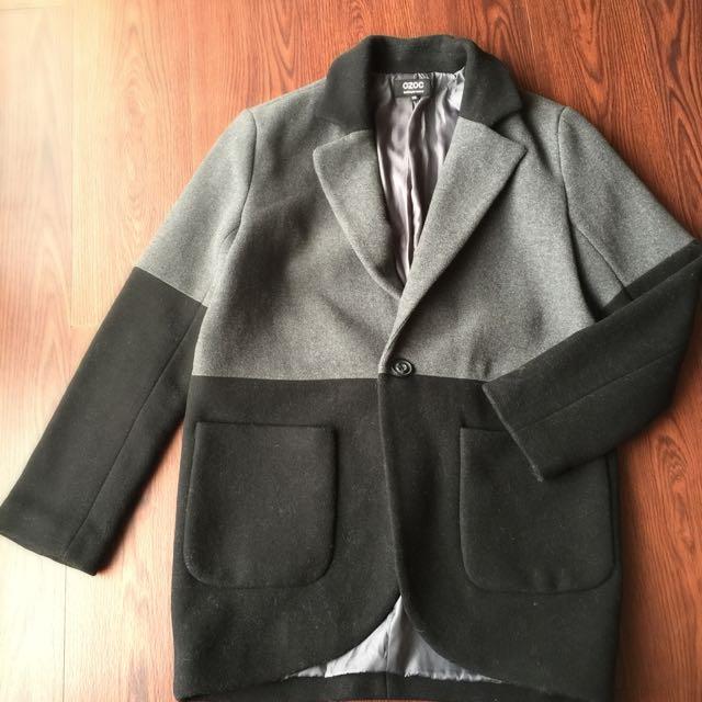 日貨🇯🇵OZOC 配色長西裝大衣