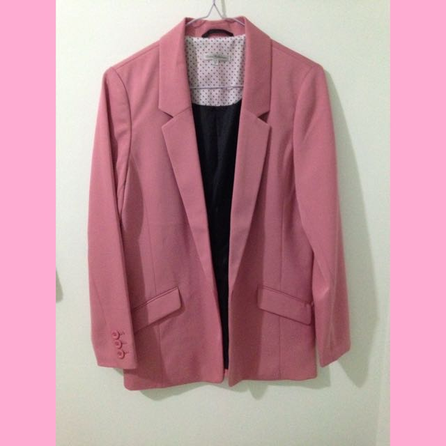 Pazzo OL風粉紅色西裝外套 M號
