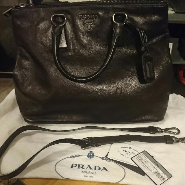Authentic New Prada Leather Bag