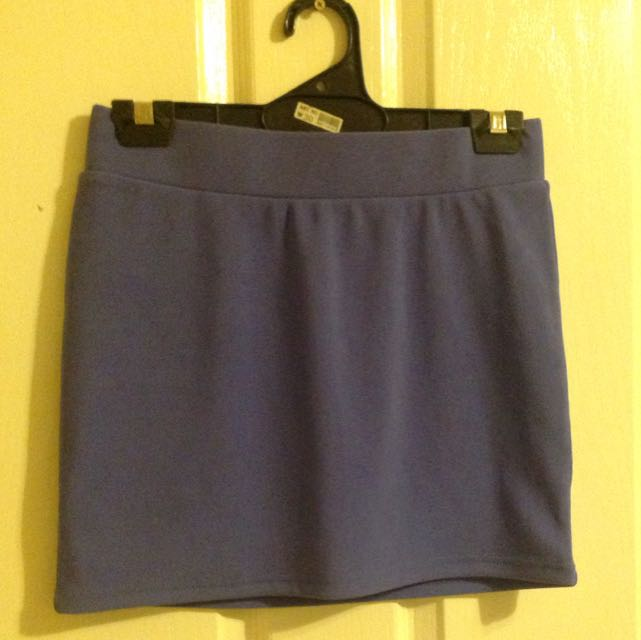 Purple Temt Fitted Skirt