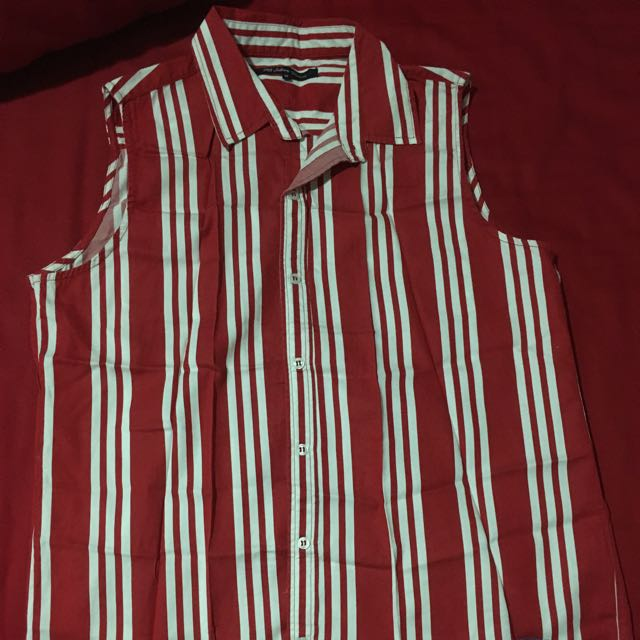 RB Sellars Red Striped Shirt