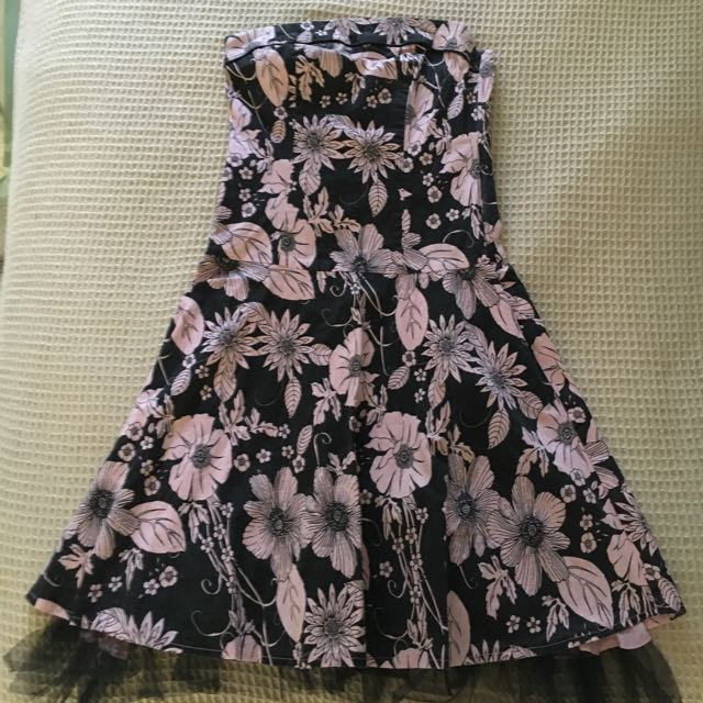 Strapless Flowery Dress