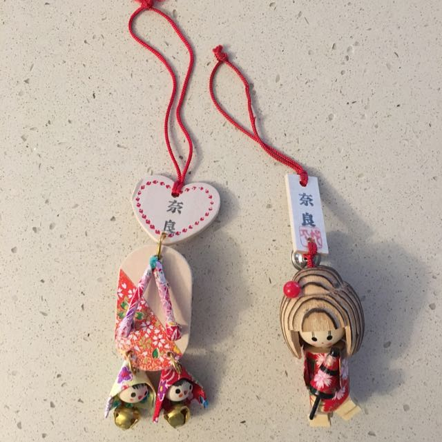 Two Homemade Hanging Dolls