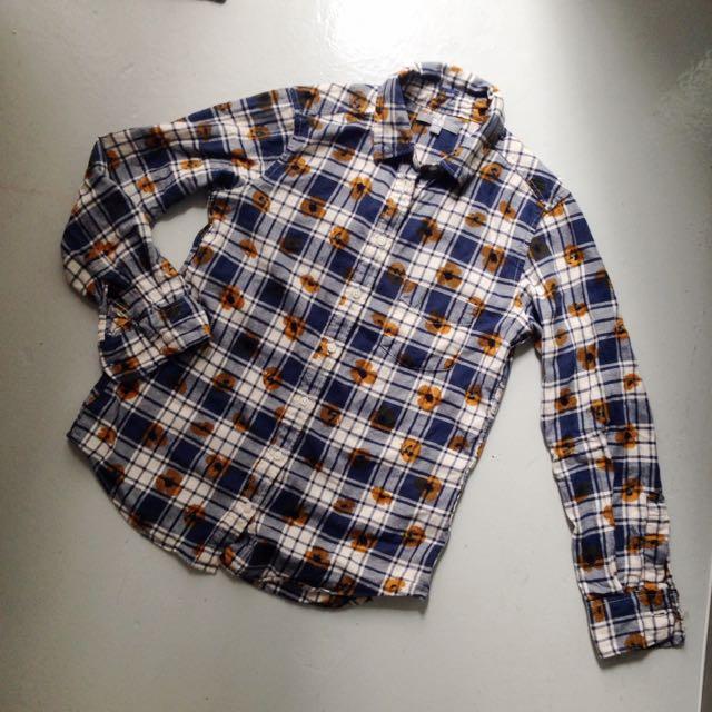 Uniqlo Checkered Poppy Shirt