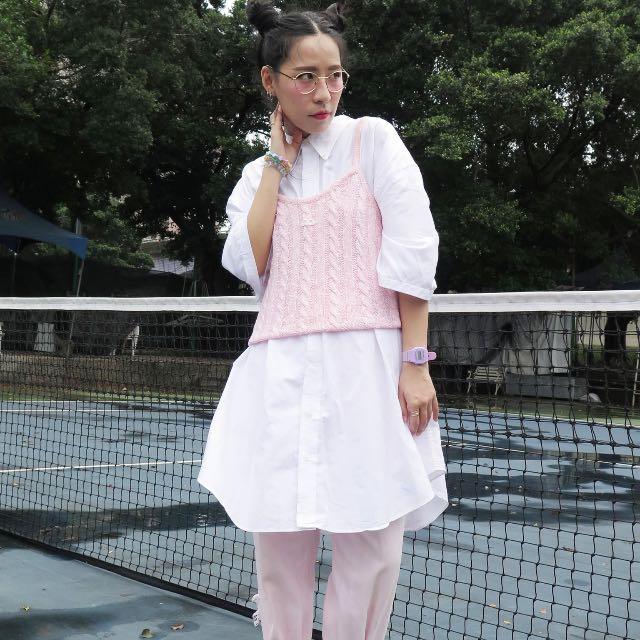 Vintage白色 OVER SIZE 襯衫