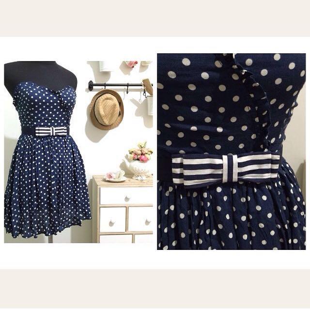 ZARA polkadot dress