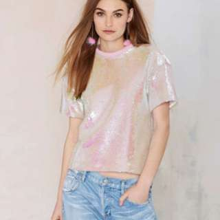 Baby Pink Sequin Blouse