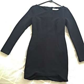 Black Thick Material Dress
