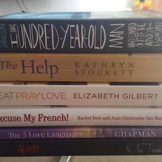 6 Variety Of Books Mostly New!