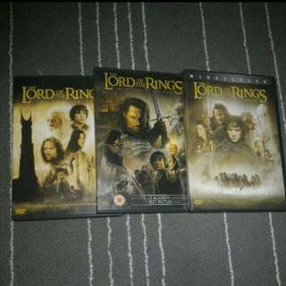 Mint Condition Lord Of The Rings Trilogy DVD