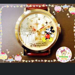 🇭🇰香港 迪士尼 限量款 質感 米奇 星星 城堡 手錶 正品✨