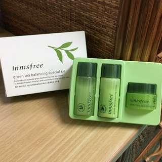 Innisfree綠茶水平衡護膚組
